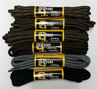 Grafters Strong Shoe Boot Laces All Colours 60,75,90.140,210 cm Free Delivery