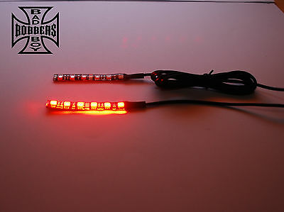 Fork Mount Led Indicator Blinker Strips Flexible Wrap Around Harley Yamaha Honda