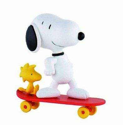 Snoopy Peanuts Bullyland Bully Snoopy Skate Figura In Gomma 42555
