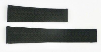 22mm Carrera Monaco Silicon Rubber Band Strap replacement for TAG Heuer