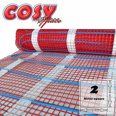 Electric Underfloor Heating Mat 2m2 200W/m2 Adhesive Fiber High Quality