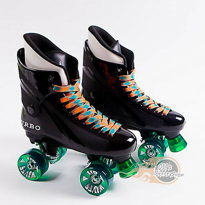 Ventro Pro Turbo Quad Roller Skate, Bauer Style - Green Airwaves