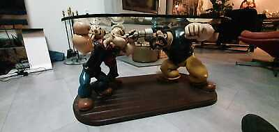 Extremely Rare! Popeye with Olive and Brutus Giant Table Figurine Statue