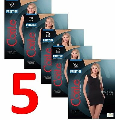 LOT of 5 Packs CONTE Women/'s Fashion Elastic Tights NUANCE 15 Den S M L XL