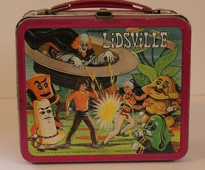 Vintage Metal Lunchbox W/plastic Thermos 1971 Lidsville