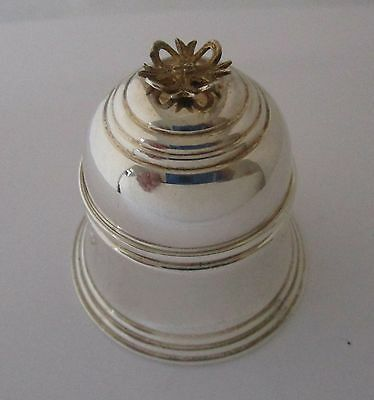 English Sterling Silver Bell shaped Ring Box Birmingham