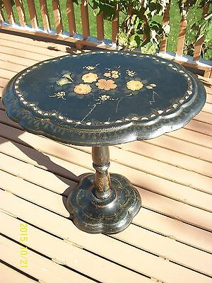 Antique circa mid 1800's Paper Mache Table