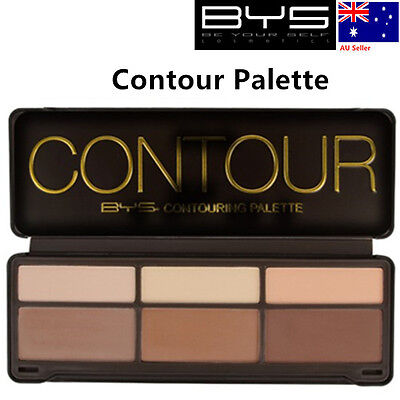 BYS BYS 6 Contour Palette include 3pcs Highlight, 3pcs Contour, Free Shipping