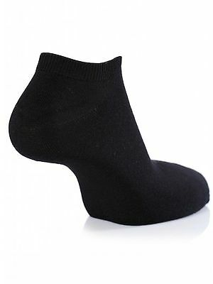 3 Pairs Trainer Ankle Liner Socks Mens Black Comfort Gym Cotton Rich Sock Uk