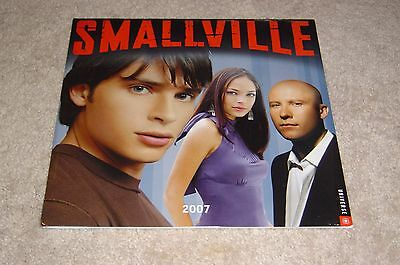 2007 Smallville Calendar * New * Sealed * Tom Welling*  Kristin Kreuk Rosenbaum
