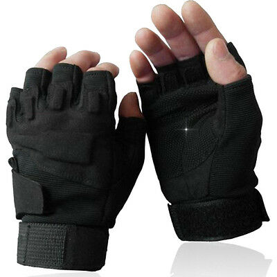 Cycling Bicycle Motorcycle Gloves Bike Half Finger Gel Silicone Sports Velcro