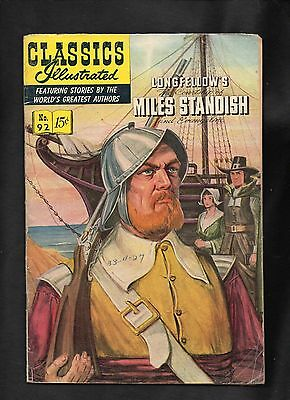 Classics Illustrated #92 Fr/gd (O)   Hrn92  (Longfellows Miles Standish)
