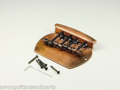 Copper Age MM Style Bass Bridge Brücke Steg Saitenhalter 4-string ultra aged