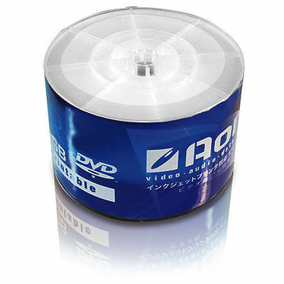 100 Pack Blank Dvd-R Printable Disc Media 16X 4.7Gb White Top Dvd