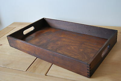 Plain Wood - Wooden Serving Tray 50cmx30cmx 6.5cm in Brown Colour