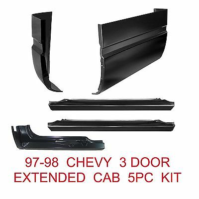 96 98 Chevy 3 Door, 5 Pc Kit, Extended Cab Corner & Rocker Panel Set GMC Truck