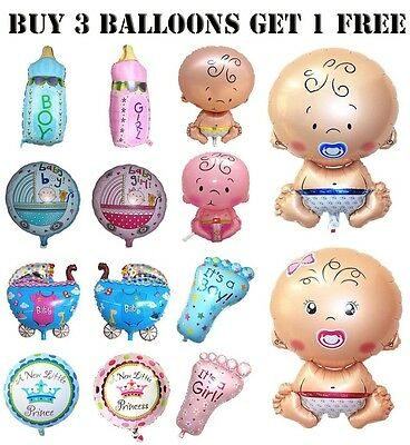 Its A Girl Boy Foil Helium Balloons, Newborn Baby Shower Party
