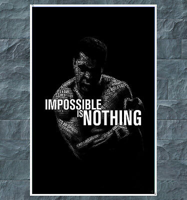 Muhammad Ali Poster Boxer Quote Positive Print Picture Wall Art Life Boxing HD