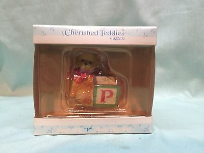 Enesco Cherished Teddies Bear With P Block