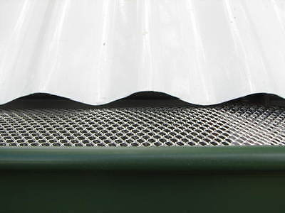 200mm x 100mm Gutter Guard Aluminium Budget Leaf Mesh Sample $1.50