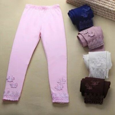 Toddler Kids Baby Girls  Lyocell Casual Pants Stretchy Warm Leggings Trousers