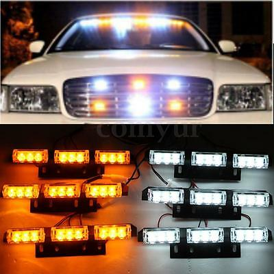 54 LED White & Amber FLASHING STROBE RECOVERY GRILL LIGHTS BREAKDOWN VEHICLE -UK