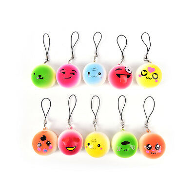 16Styles Soft Cute Squishy Bread Kawaii Keychain Bag Phone Charm Strap Pendant