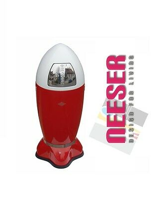 Wesco SPACEBOY XL in red white design bin waste the hype for kitchen NEW
