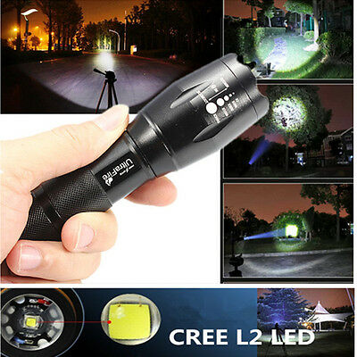 UltraFire 2000LM CREE XML-T6 LED ZOOMABLE ZOOM 18650 Flashlight Torch Lamp