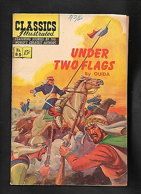 Classics Illustrated #86 Vg    Hrn158   (Under Two Flags) Ouida