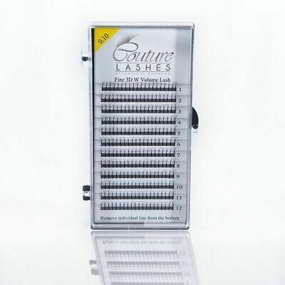 Couture W lashes 0.10 MIXED TRAYS  - Volume Lashes - Pre made Fans C and D Curl