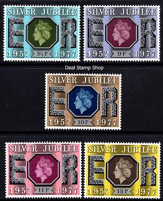 GB 1977 Silver Jubilee SG1033 - 1037 Complete Set Unmounted Mint