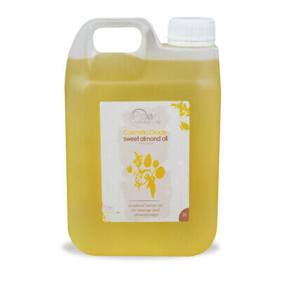 2 Litres 100% PURE, COSMETIC  GRADE, COLD PRESSED SWEET ALMOND OIL