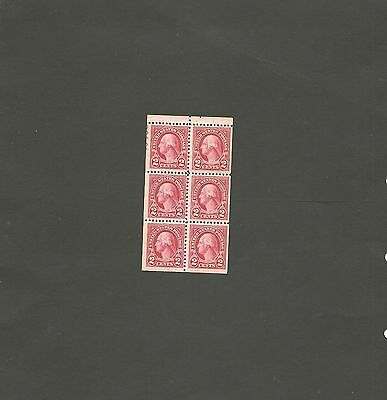 SC#: 634d MNH BOOKLET PANE USA STAMPS 1926 2 CENT WASH  S-2583