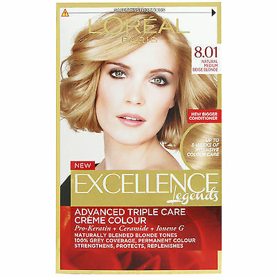 L'Oreal Excellence Medium Beige Blonde 8.01