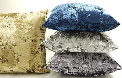 Large Moulin Luxury  Crushed Velvet 22in x 22in Reversible Cushion Covers