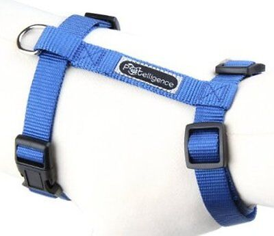 New Wholesale Lot Of 10 Dog Nylon Harnesses  Size Large (Blue)