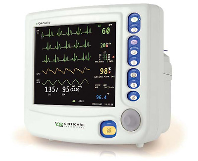 Criticare nGenuity 8100EP Patient Monitor - ECG,NiBP,SpO2,Printer, BioCertified