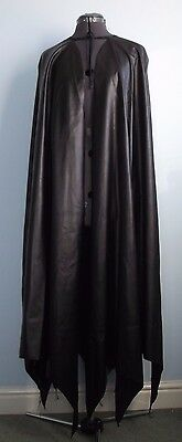 CHILD BATMAN CAPE CLOAK soft black faux leather NEW COSPLAY also DARTH VADER