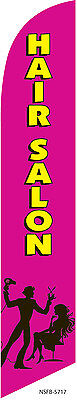 Hair Salon (hot pink) 12ft Feather Banner Swooper Flag - FLAG ONLY