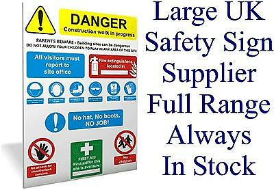 SITE SAFETY 2 Sign Health and Safety Signs High Quality Interior & Exterior