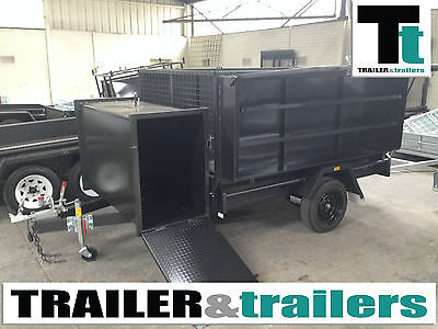 8x5 GARDENING/ LANDSCAPERS TRAILER HEAVY DUTY *NEW TYRES*