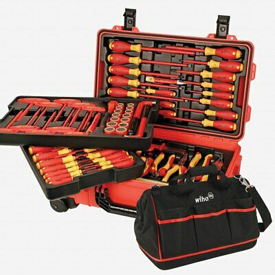 Wiha 32800 80 Piece Insulated Rolling Tool Case