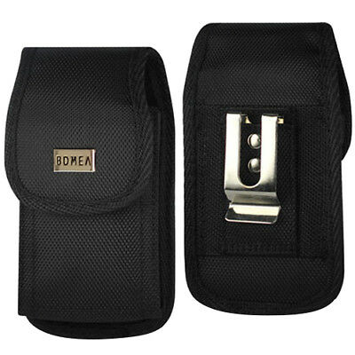 Black Samsung Galaxy S7 Nylon Holster Case Belt Clip Loops Pouch Holder Cover