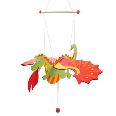 NEW Wooden Flying Fire Breathing Dragon Mobile from Baby Barn Discounts
