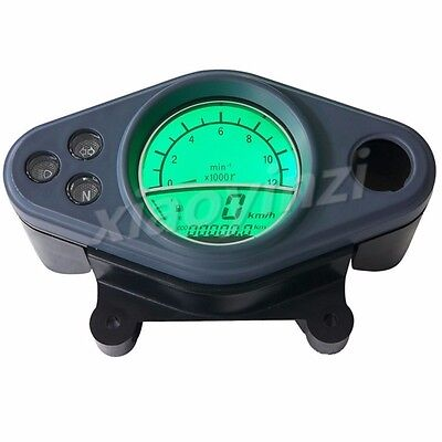 """KMH 12000RPM LCD Odometer Speedometer Tachometer 12-16"""" Motorcycle Scooter"""