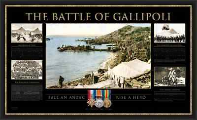 The Battle of Gallipoli Limited Edition Framed Print Anzac Cove