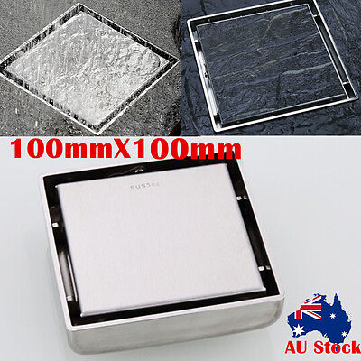 100MM Tile Insert Grate Square Bathroom Shower Waste Grate 304 Stainless Steel
