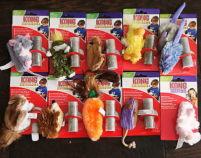 Cat And Kitten Catnip Toys Refillable Kong Plush Cat Toys With Quality Catnip