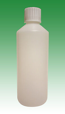500ml HDPE bottles and child proof caps (28mm) (5x, 10x, 25x, 50x or 100x)